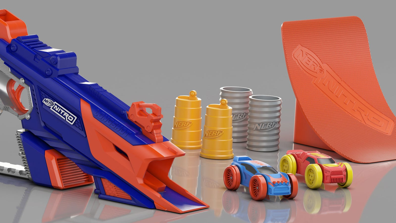 Car Foam Gun >> Nerf's New Blasters Shoot Tiny Foam Cars Instead of Darts
