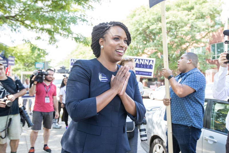 Illustration for article titled Watch: Ayanna Pressley, Who May Become 1st Black Massachusetts Rep Elected to Congress, Reacts to Upset Victory