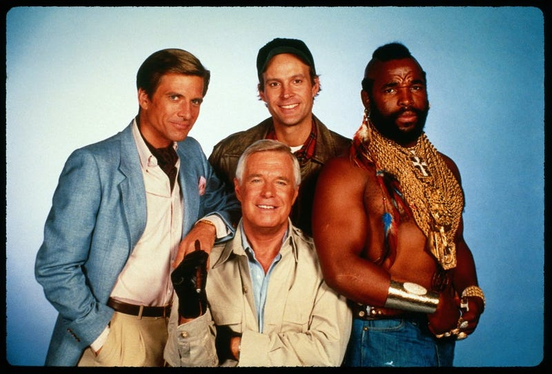 Illustration for article titled What marathoning the A-Team all week makes you think about