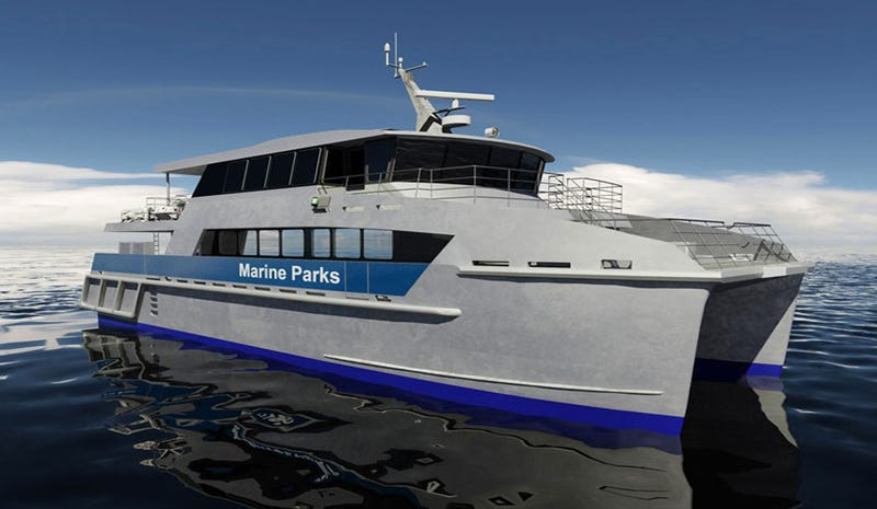 Illustration for article titled These Teched-Out Catamarans Will Guard the Great Barrier Reef
