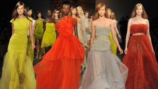 Illustration for article titled Christian Siriano Shows Dramatic Dresses & Gorgeous Gowns For Spring 2012