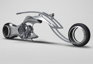 Illustration for article titled Swordfish Motorcycle Concept Imagines Our Hubless Wheeled Future
