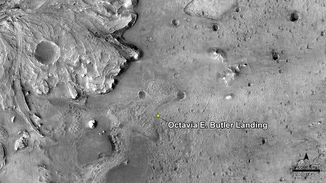 Mars Rover Landing Site Named After Sci-Fi Legend Octavia Butler