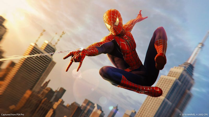 Illustration for article titled Surprise: The 'Sam Raimi' Suit Is Now In Spider-Man PS4