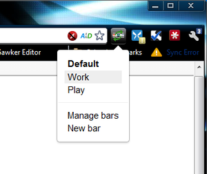 how to get bookmark bar on chrome