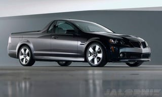 Illustration for article titled REPORT: The Pontiac G8 El Camino, GXP Live... As Holdens!