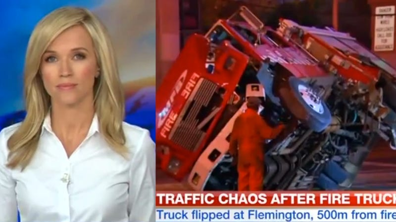 Fire Truck Crash Reminds Us That Australian News Anchors Are