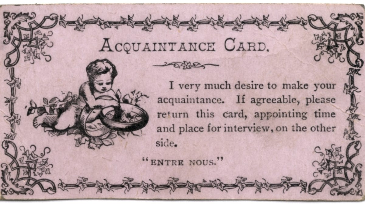 Young People Used These Absurd Little Cards to Get Laid in the 19th ...