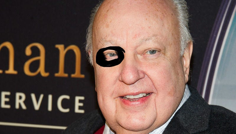 Artist rendering of Roger Ailes' black eye in no way produced by the AP