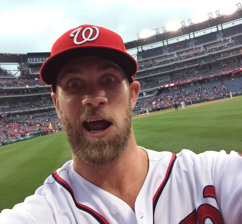 Illustration for article titled Bryce Harper Took A Selfie With A Fan's Phone