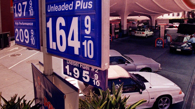 A similar price gap pictured in Beverly Hills, 1994. Photo Credit: AP