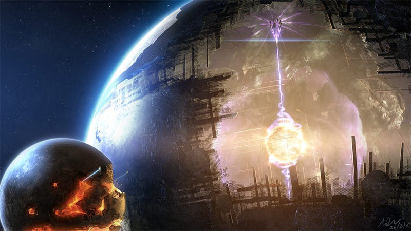 Are we surrounded by Dyson Spheres?