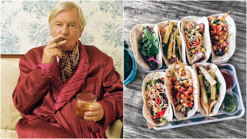 Would this rich coal tycoon, T. Maximillius Fancyfuck, pay $180 for tacos? (Photos: Digital Vision, Crystal K/Eyeem via Getty Images)