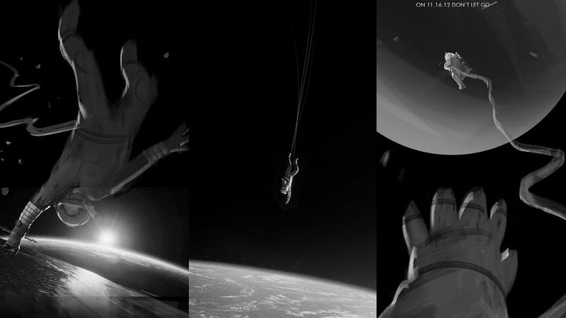 Illustration for article titled Gorgeous Unused Gravity Posters Almost Represent The Movie TOO Well