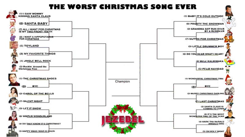 Illustration for article titled December Madness: The Tournament To Crown The Worst Christmas Song Ever