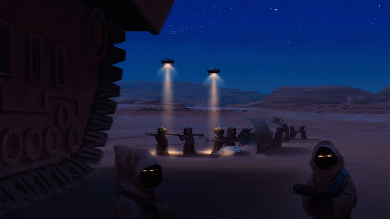 Illustration for article titled Jawas, Workin' The Night Shift