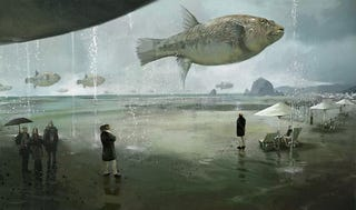 Illustration for article titled The Giant Fish Only Fly When It Rains