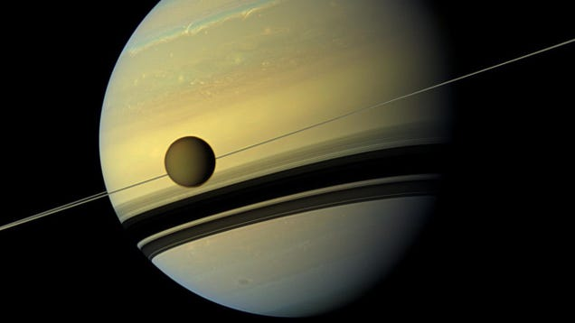 Saturn s Best Moon Is Drifting Away Quicker Than We Thought