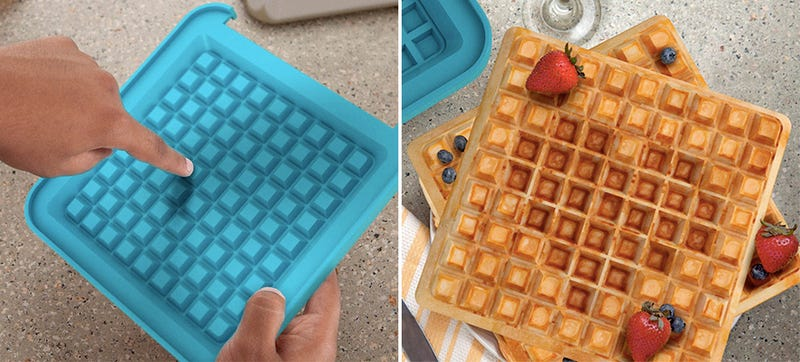 Illustration for article titled Serve an 8-Bit Breakfast With This Poke-a-Pixel Wafflemaker