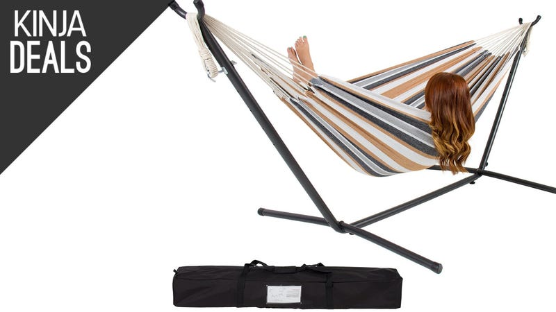 Illustration for article titled Grab This $80 Double Hammock Before The Weather Turns