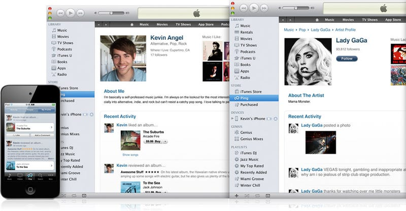 Illustration for article titled iTunes 10 Is All About Ping, Apple's Social Network for Music