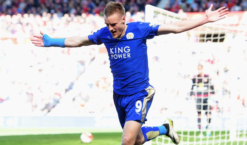 Our Lord and Savior, Jamie Vardy. (Photo credit: Michael Regan/Getty)