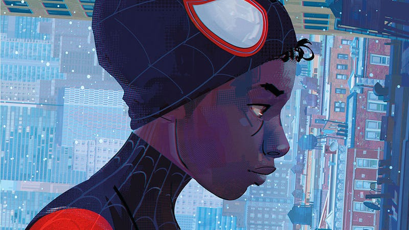 A crop of the cover to Spider-Man: Into the Spider-Verse - The Art of the Movie by Ramin Zahed, published by Titan Books