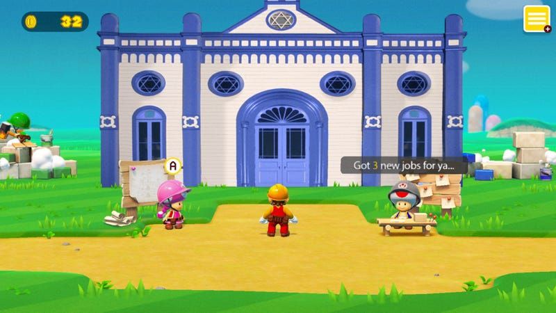 Illustration for article titled Nintendo Announces That 'Super Mario Maker 2' Will Finally Let Users Build A Synagogue So Mario Can Get Bar Mitzvahed