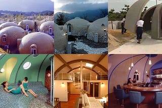 Styrofoam Dome styrofoam homes are typhoon-resistant, refillable with people or