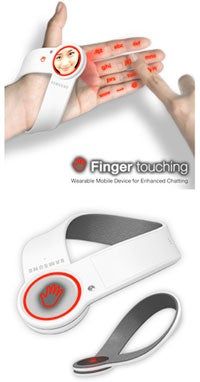 Illustration for article titled Wearable Finger-Based Cellphone Concept
