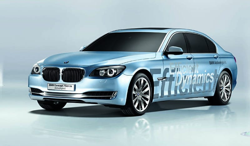 Illustration for article titled BMW Concept 7 Series ActiveHybrid Adds Power, Efficiency