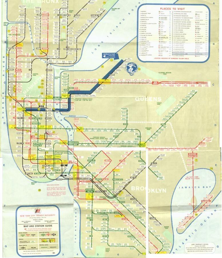 2009 Nyc Subway Map.15 Subway Maps That Trace Nyc S Transit History
