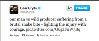 Illustration for article titled A világ legundorítóbb képét twittelte ki Bear Grylls (18+)