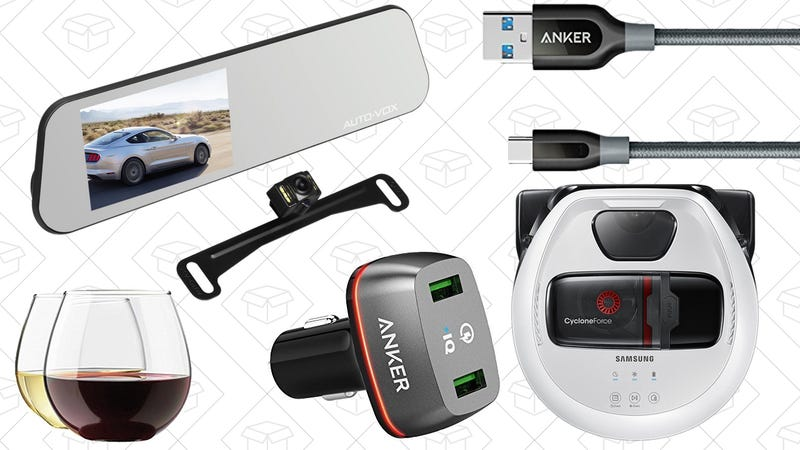 Illustration for article titled Saturday's Best Deals: Robotic Vacuum, Dual Dash Cam, Anker Powerline+, and More