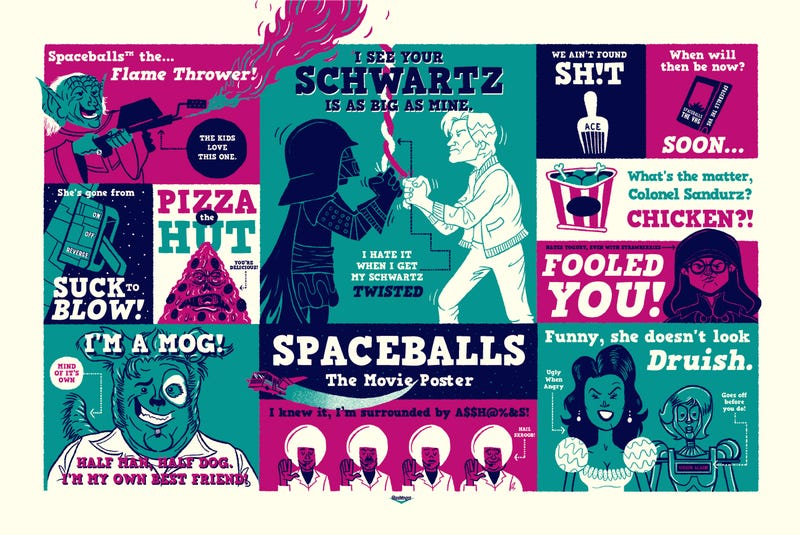 Illustration for article titled A New Art Show Brings Your Favorite Movie Quotes to Life
