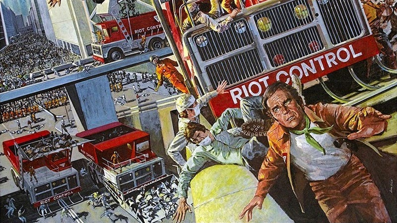 Illustration for article titled The Ten Best Vehicles To Drive Through A Riot