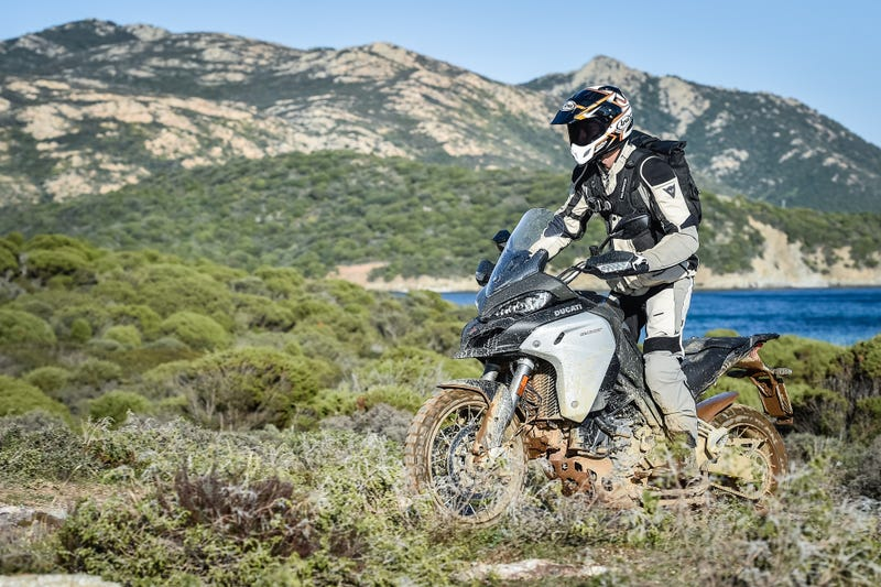 Yes, technically I'm riding off-road. Photo: Ducati