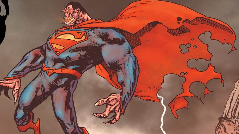 Illustration for article titled Your First Glimpse of the Nightmarish Fates of Superman and Batman, in Swamp Thing #16!