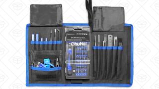 Set de destornilladores 77 en 1 de Ohuhu | $22 | Amazon | Usa el código promocional OHDRIVER