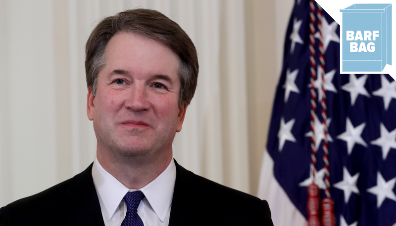 Illustration for article titled Brett Kavanaugh Says He's 'Optimistic About the Future of America,' Which… Can't Relate!