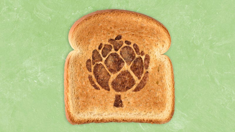 Illustration for article titled Move over avocado toast, artichoke toast is here