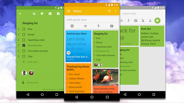 Google Keep Adds Shared Notes Search By Color