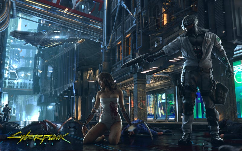 Concept art for Cyberpunk 2077