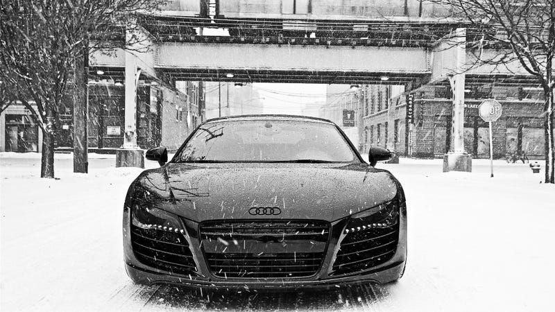 Illustration for article titled Fellow Audi Addicts Unite.  Winter Wallpaper.