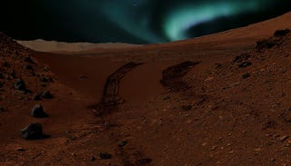 Illustration for article titled This Is What The Aurorae Look Like On Mars