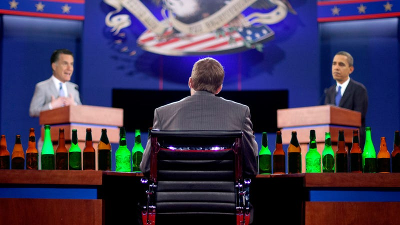 Illustration for article titled The Ultimate Presidential Debate Drinking Game for Ladies