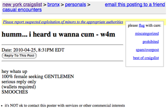 Sex on craigs list