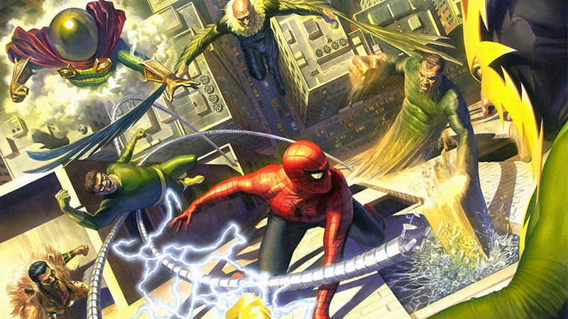 Image: Spider-Man Battles the Sinister Six, by Alex Ross
