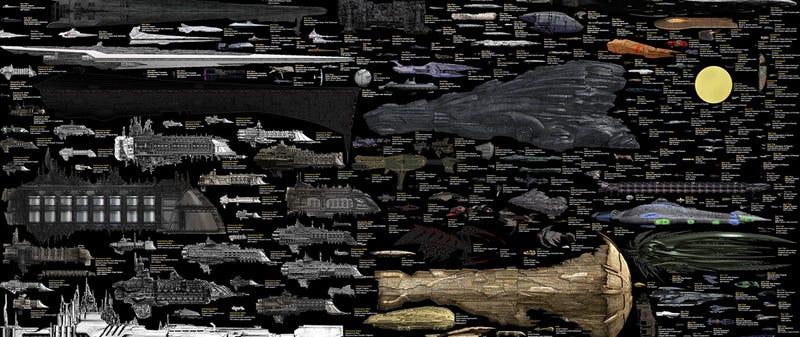 La mayor comparativa de naves de ciencia-ficción ya está completa