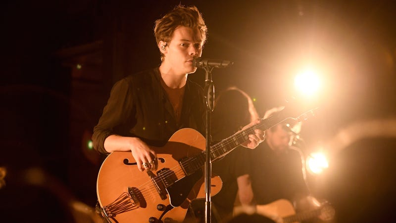Harry Styles at Rough Trade. Image via Getty